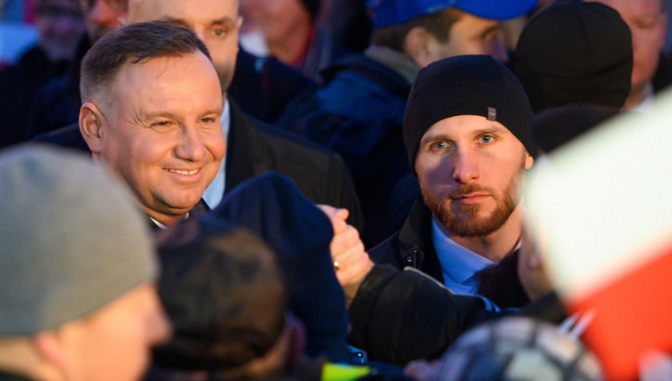 Andrzej Duda (L) w sobotę rozpoczyna oficjalnie kampanię prezydencką (fot. PAP/Paweł Topolski)
