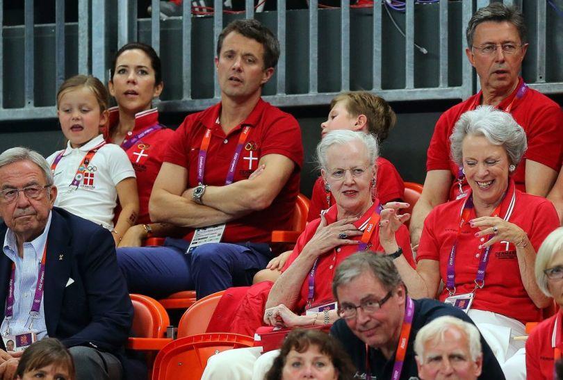 Swoich zawodników wspierała duńska rodzina królewska (fot.PAP/EPA)