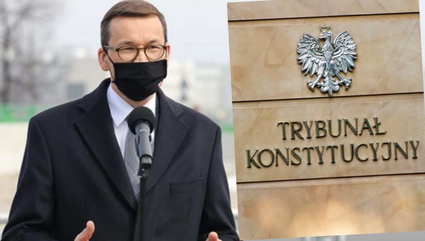 Premier skierował wniosek do TK (fot. Krystian Maj/KPRM; Shutterstock)