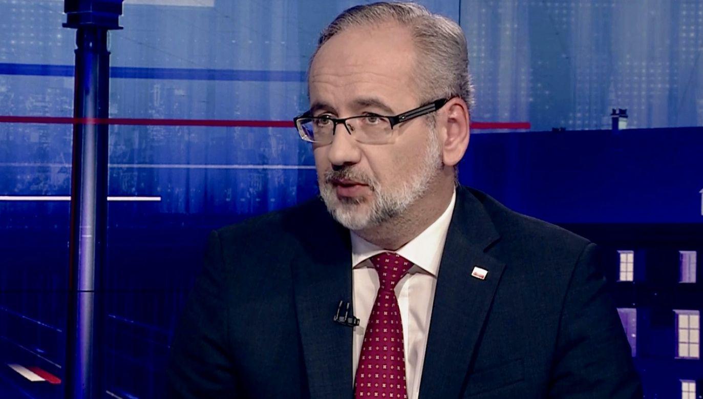 Minister zdrowia Adam Niedzielski (fot. TVP Info)