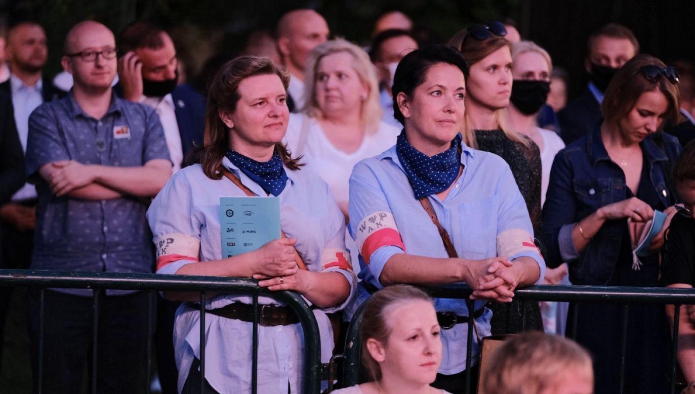 Koncert był częścią obchodów 76. rocznicy wybuchu Powstania Warszawskiego (fot. PAP/Mateusz Marek)