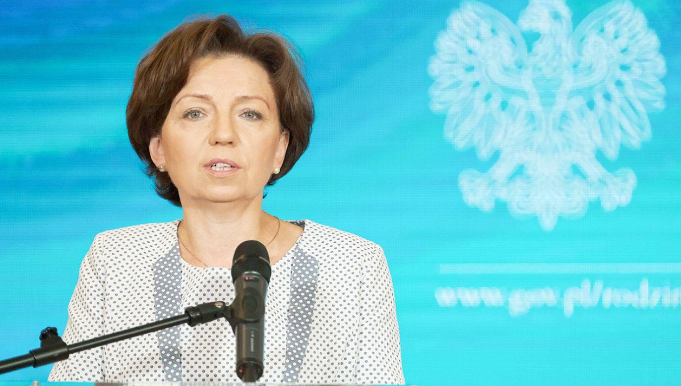 Minister Marlena Maląg: Sytuacja rodzin już się polepszyła m.in. dzięki programowi 500 Plus (fot. PAP/Mateusz Marek)