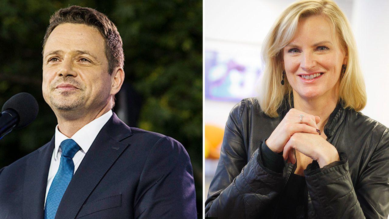 Pracownicy TVN twierdzą, że Rafał Trzaskowski bywał u Katarzyny Kieli (fot. Getty Images; Forum)