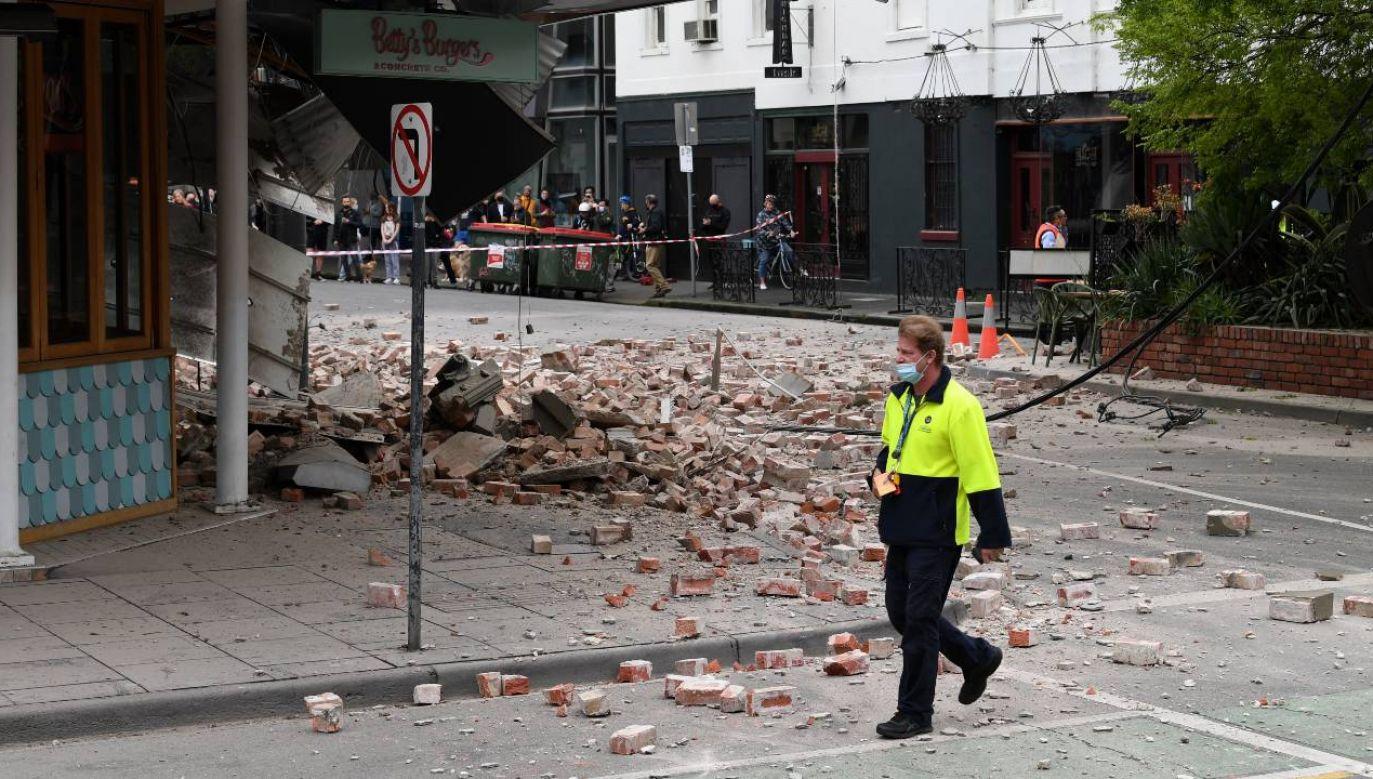 W Melbourne uszkodzonych zostało kilka budynków (fot. PAP/EPA/JAMES ROSS)