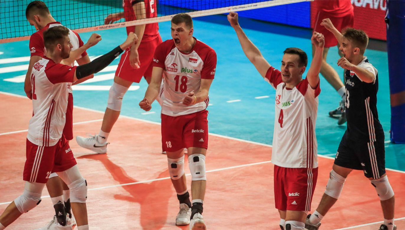Polscy siatkarze chcą zwyciężyć w Final Six Ligi Narodów (fot. PAP/EPA/TANNEN MAURY)