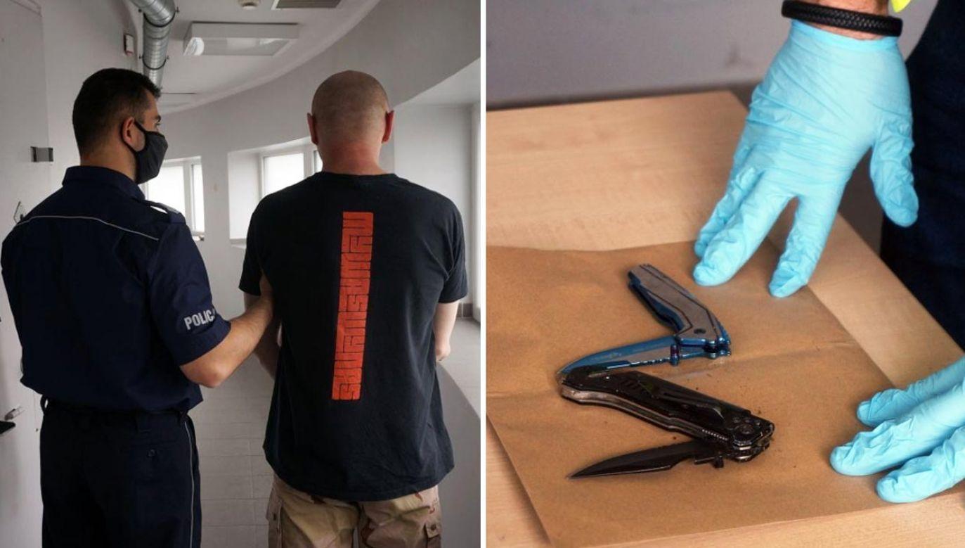 Nożownik zaatakował 28-latka (fot. Policja)