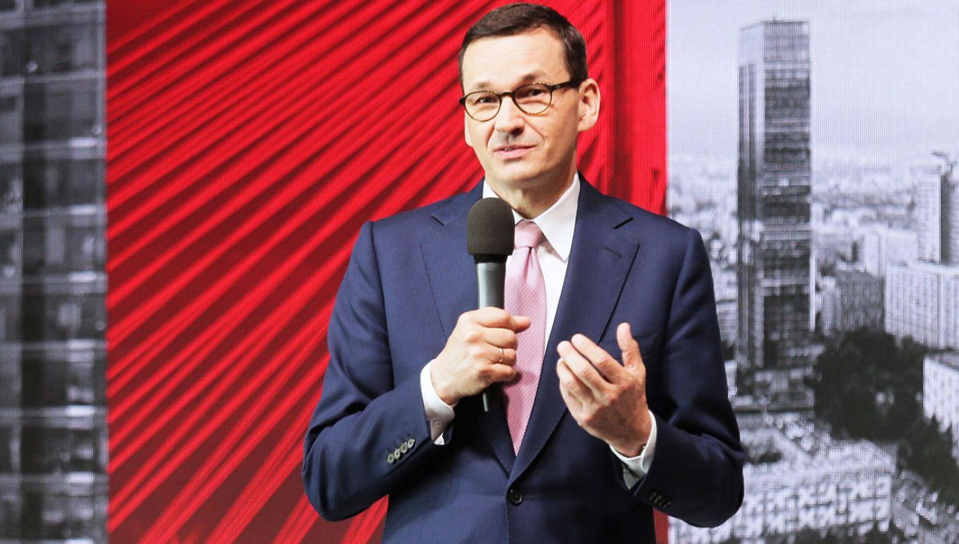 Premier Morawiecki skomentował wzrost płacy minimalnej (fot. PAP/Wojciech Olkuśnik)