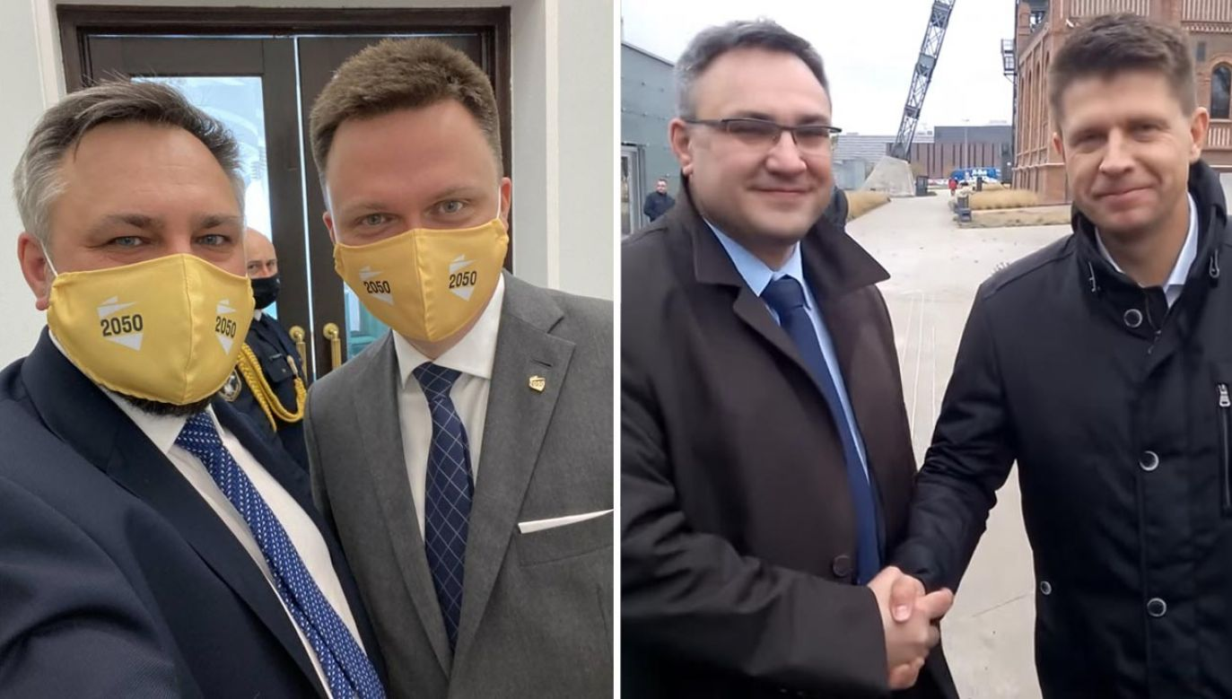 Poseł KO i Nowoczesnej Mirosław Suchoń dołączył do Polski 2050 Szymona Hołowni (fot. Twitter/Mirosław Suchoń; YouTube/Mirosław Suchoń)