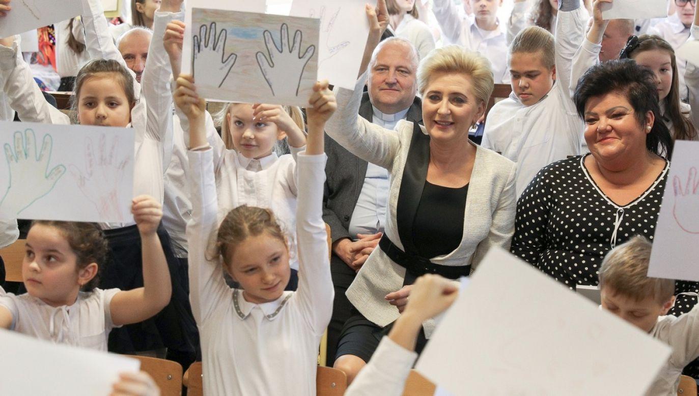 Agata Kornhauser-Duda uczestniczyła w wielu wydarzeniach o charakterze społeczno-charytatywnym (fot. Igor Smirnow/KPRP)