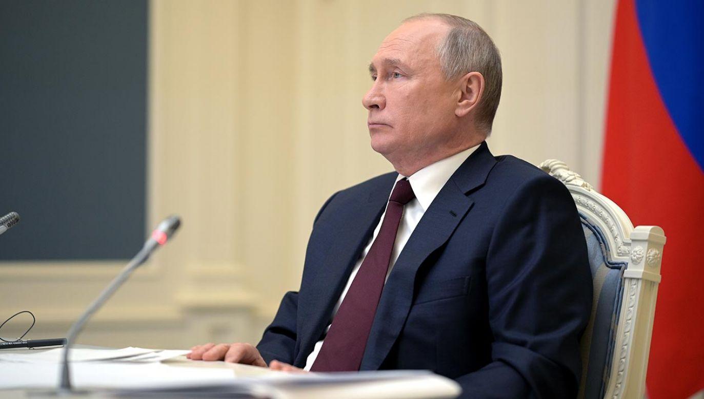 Putin przyjął listy uwierzytelniające od ambasadora Polski (fot. Alexei Druzhinin\TASS via Getty Images)