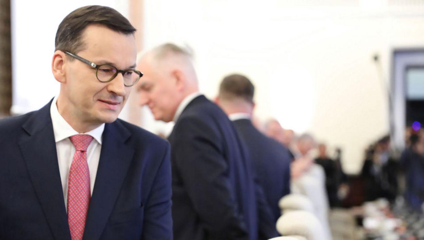 Premier przedstawi program działania rządu (fot. PAP/Leszek Szymański)