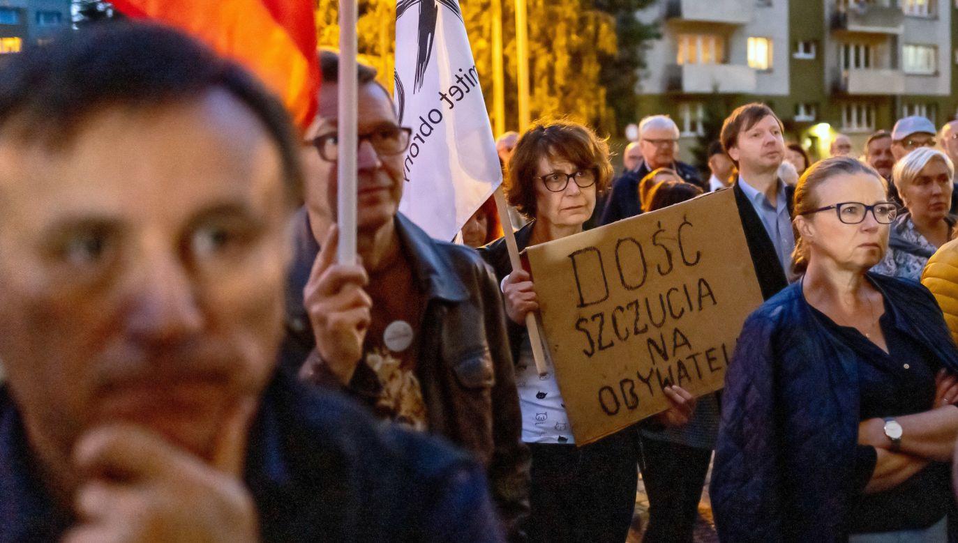 Protest przeciwko reformie sądownictwa (fot. arch.Andrzej Grygiel)