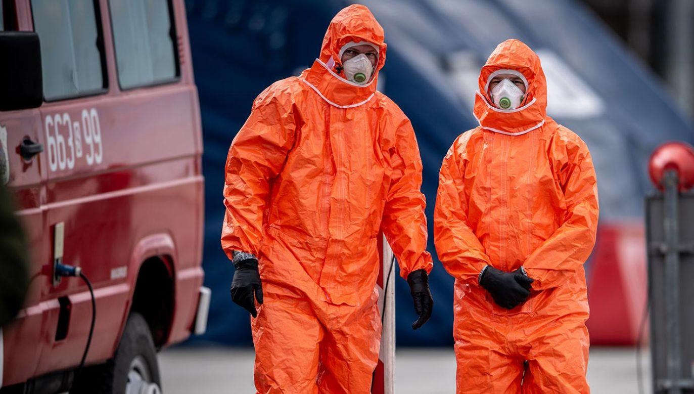 Łącznie odnotowano dotąd 4848 przypadków i 129 zgonów (fot. Lukas Kabon/Anadolu Agency via Getty Images)