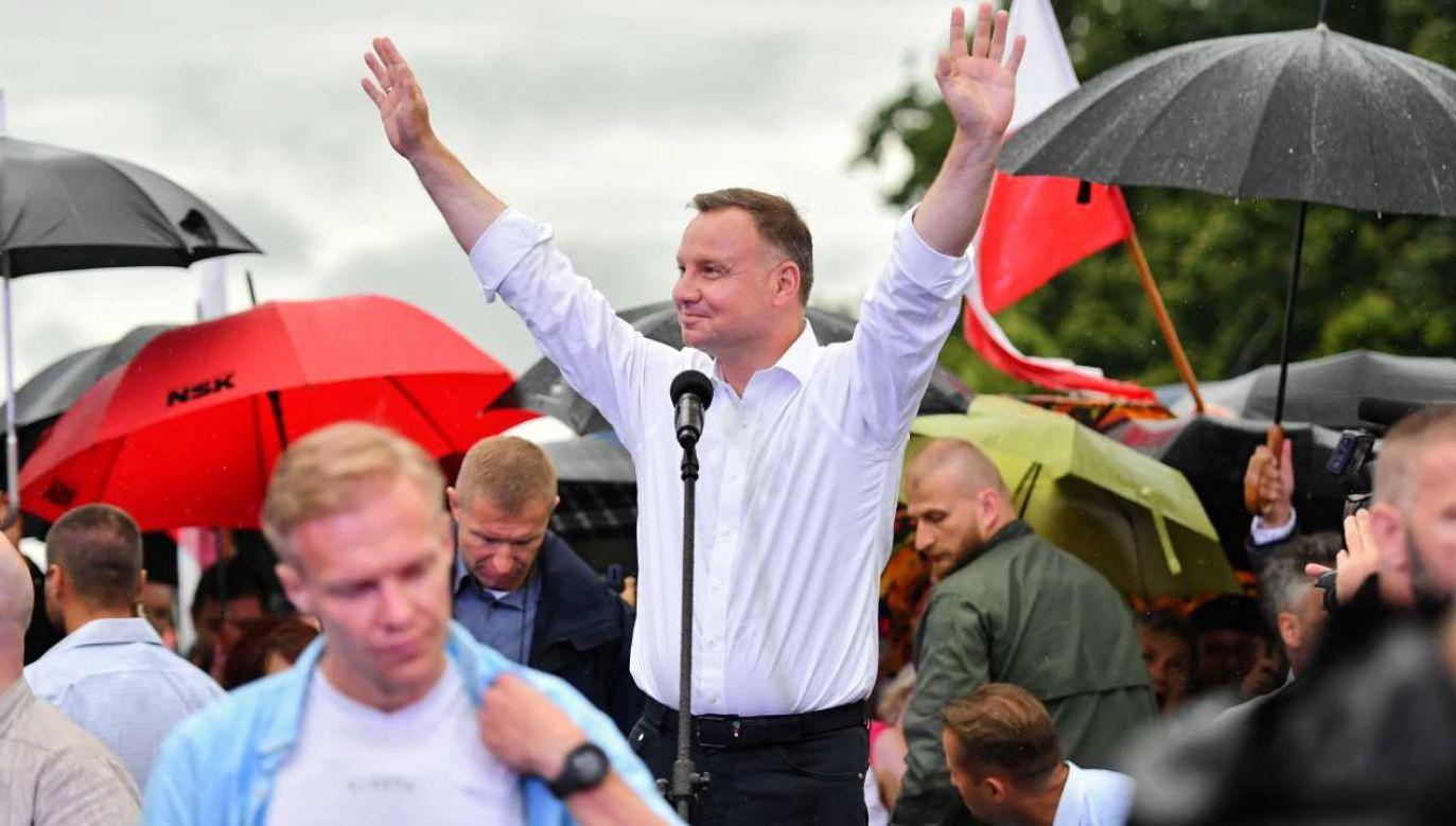 Prezydent Andrzej Duda walczy o reelekcję (fot. PAP/Wojtek Jargiło)