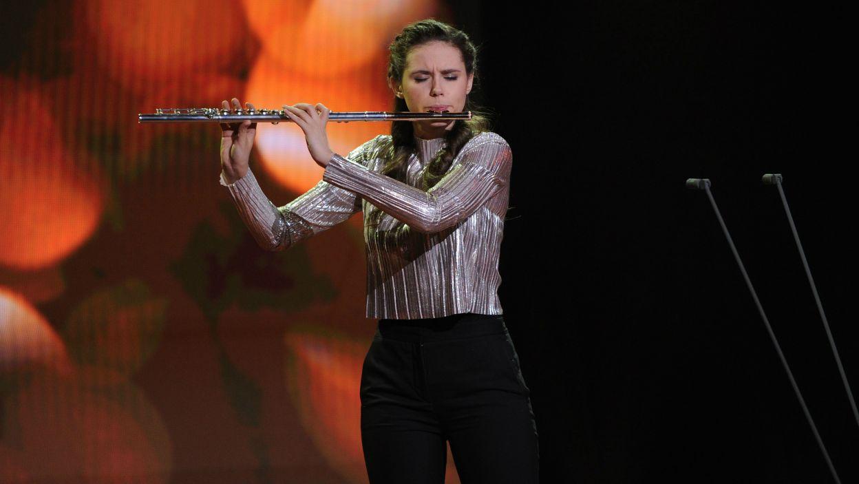 Marta Chlebicka w utworze Wilhelma Poppa pokazała całą gamę technicznych zdolności, łącząc je z ogromną muzykalnością. Jurorzy docenili jej występ (fot. N. Młudzik/TVP)