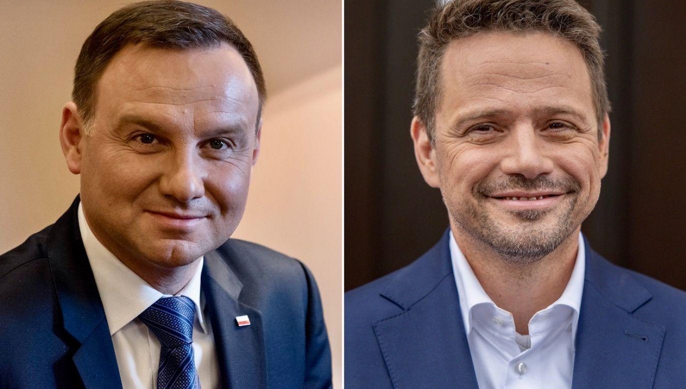Andrzej Duda zmierzy się  w II turze z Rafałem Trzaskowskim  (fot. Getty Images (2)