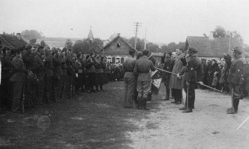 Druja, początek ulicy Vialikaja, październik 1935. Fot. Wikimedia/Narodowe Archiwum Cyfrowe. Sygn. 1-W-2230