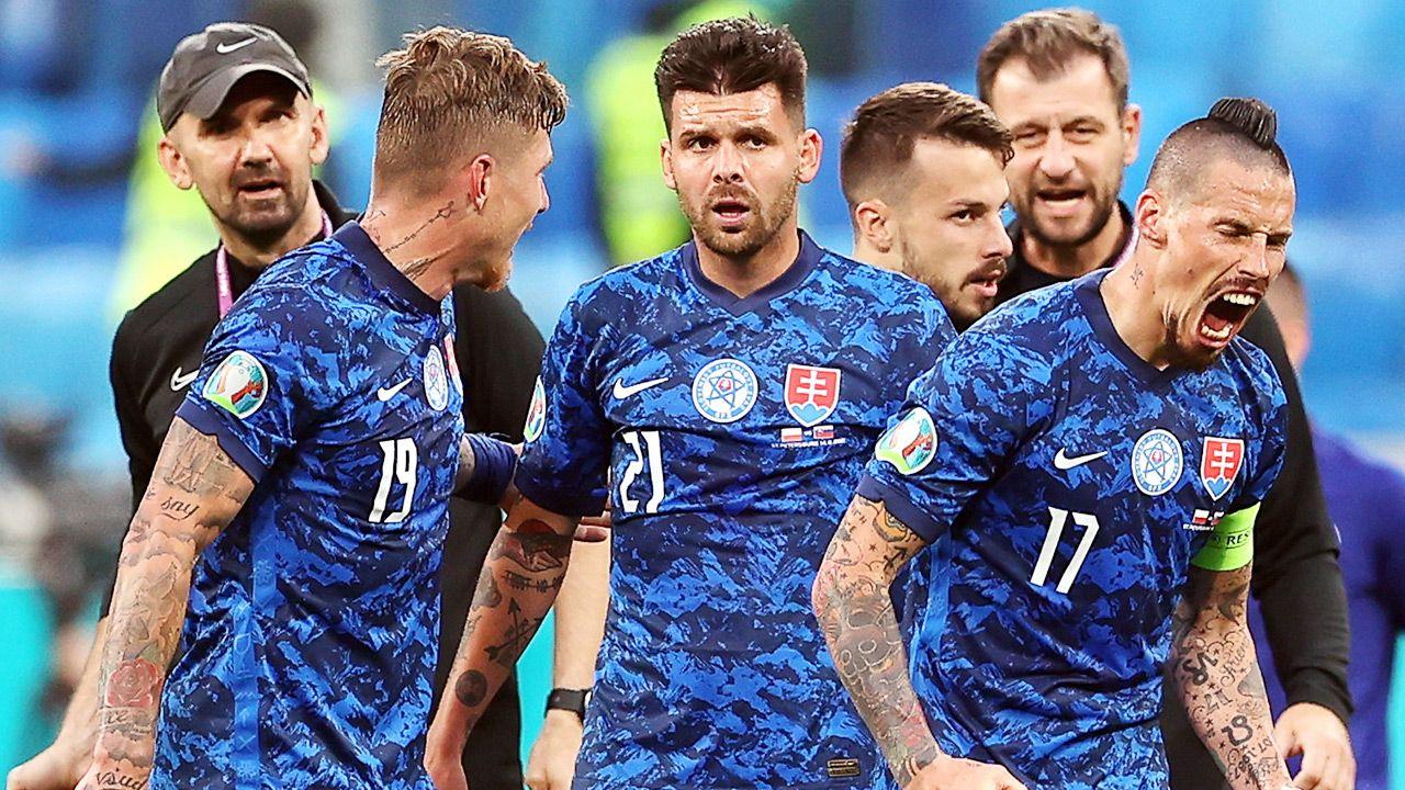 W poniedziałek Słowacy pokonali Polskę 2:1 w grupie E mistrzostw Europy (fot. PAP/EPA/Lars Baron / POOL)