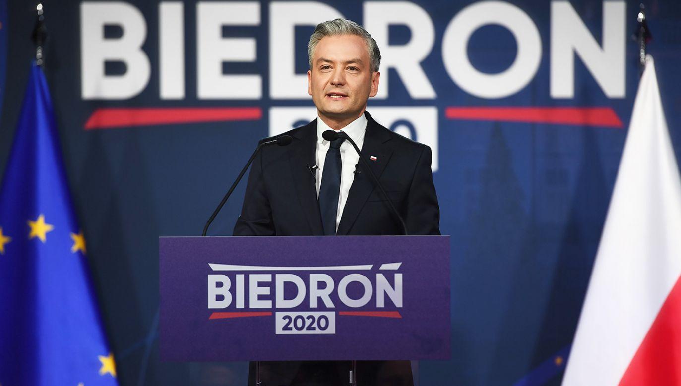 Rzeczniczką sztabu wyborczego Roberta Biedronia została Beata Maciejewska (fot. PAP/Marcin Gadomski)