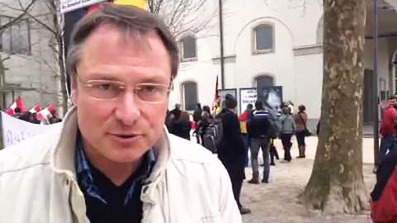 Michael Stürzenberger skazany za artykuł w sieci (fot. yt)