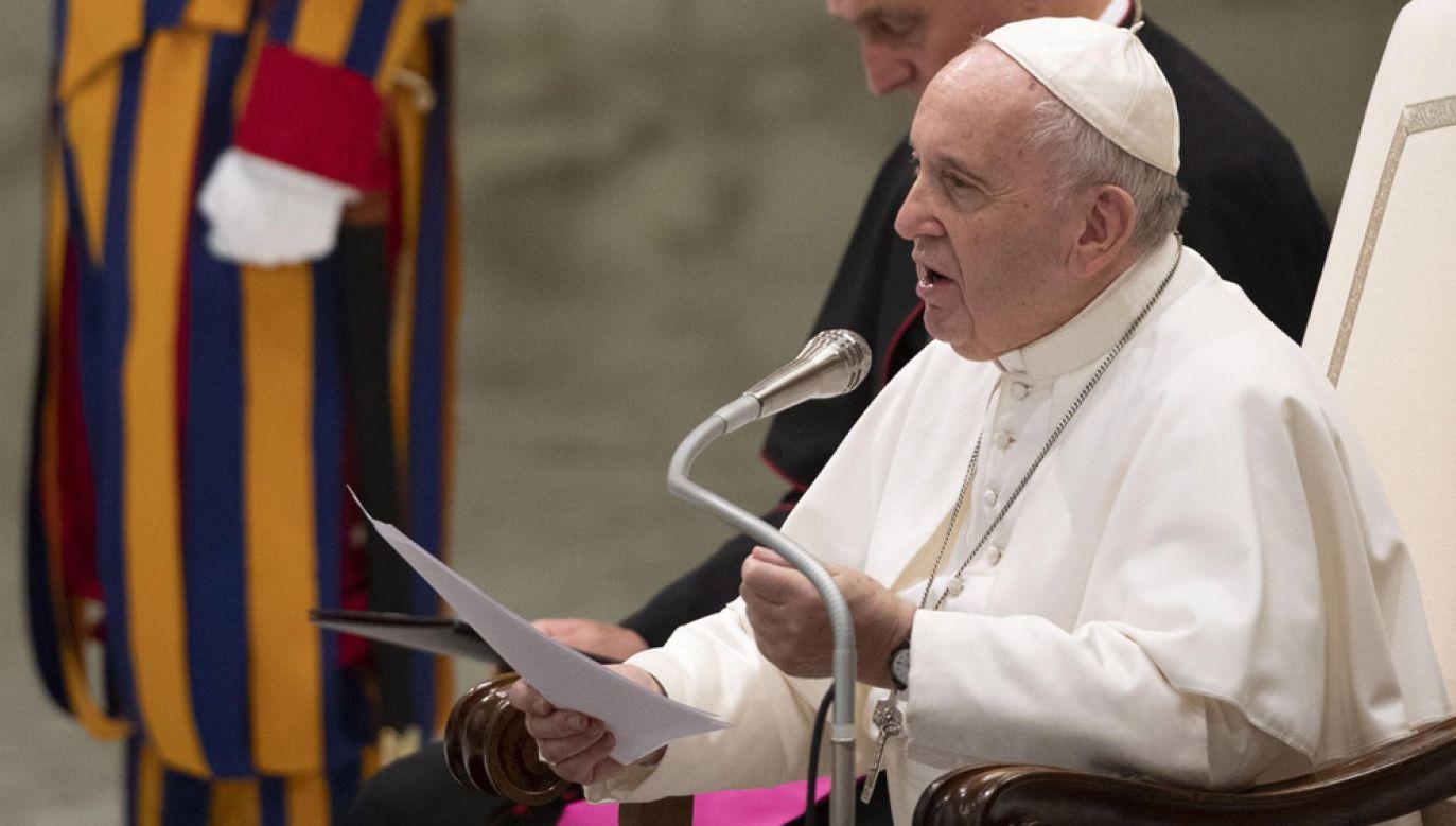 Papież Franciszek (fot. PAP/EPA/MAURIZIO BRAMBATTI)