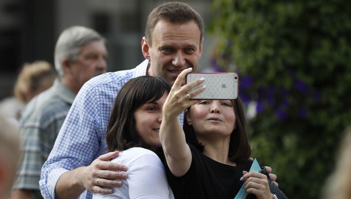 Aleksiej Nawalny jest uważany za lidera rosyjskiej opozycji (fot. PAP/EPA/YURI KOCHETKOV)