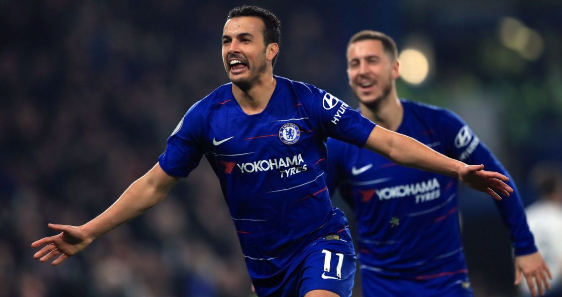 2121def74 Pedro cieszy się z gola w meczu Chelsea – Tottenham Hotspur (fot. Getty)