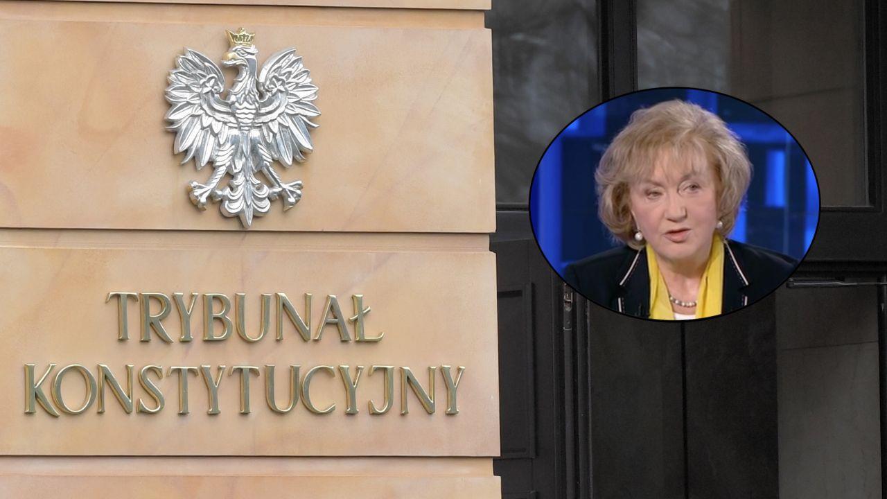 Prof. Genowefa Grabowska o sporze wokół prawa unijnego i pytaniach premiera do TK (fot.  PAP/Radek Pietruszka, TVP Info)
