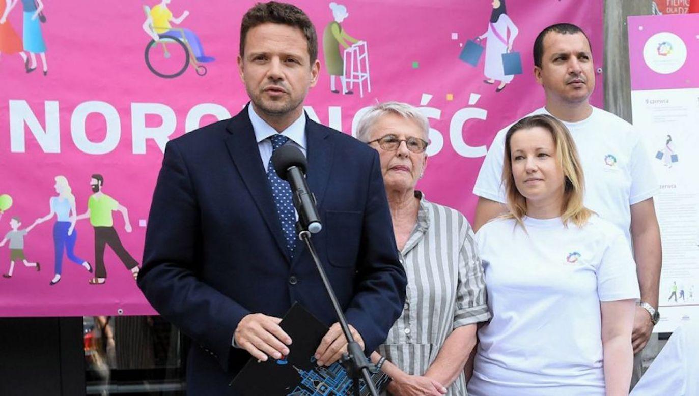 W 2019 roku znów zrobiło się głośno na temat Jolanty Lange, ponieważ podczas Warszawskich Dni Różnorodności wystąpił obok niej prezydent Warszawy Rafał Trzaskowski (fot. arch.PAP/Radek Pietruszka)
