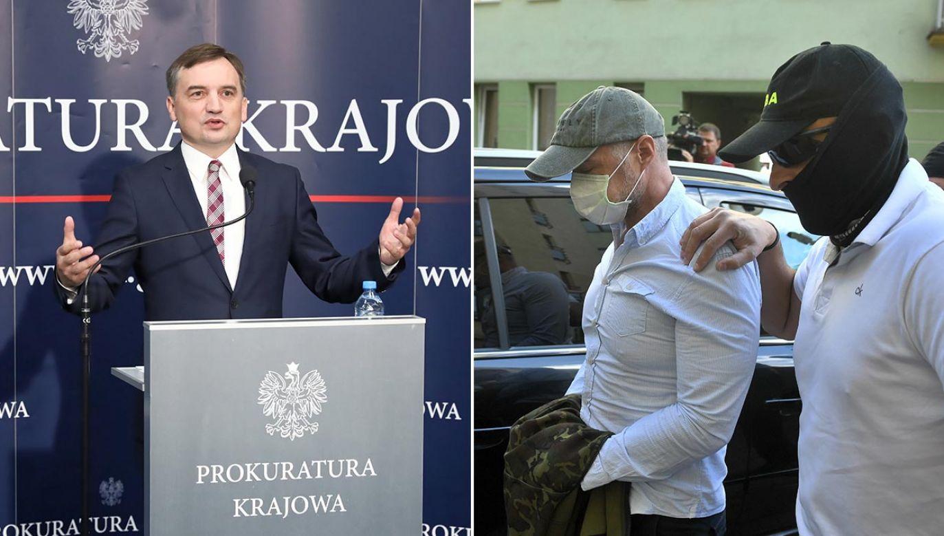 """""""Strach zajrzał w oczy?"""" – pyta minister (fot. PAP/Tomasz Gzell, Radek Pietruszka)"""
