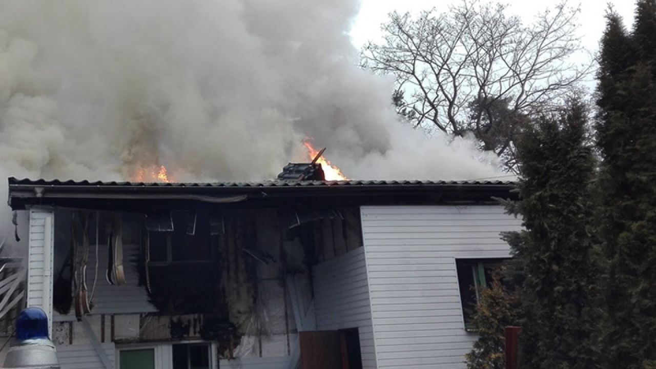 Pożar wybuchł z powodu wadliwej instalacji elektrycznej (fot. OSP Tłuszcz)
