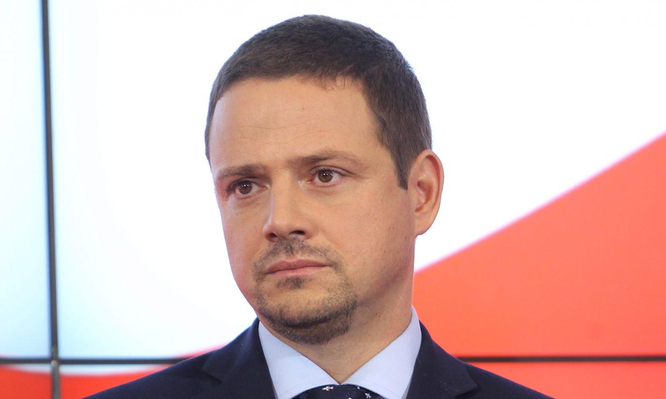 Donald Tusk zaproponował Rafała Trzaskowskiego na stanowisko ministra administracji i cyfryzacji (fot. PAP/Radek Pietruszka)