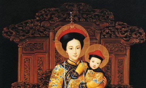 Tak wyglądał oryginał, za cesarską żółć można było stracić głowę. 1. Najświętsza Matka Królowa Chin - reprodukcja oryginału. Fot. Krzysztof Darewicz