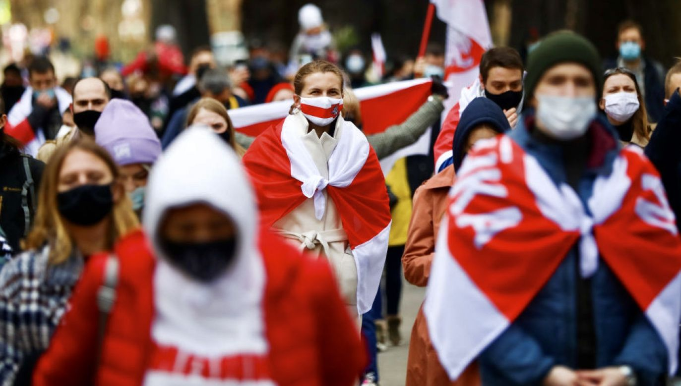 W ciągu ostatnich dwóch lat liczba Białorusinów w Polsce wzrosła o połowę (fot. Beata Zawrzel/NurPhoto via Getty Images)