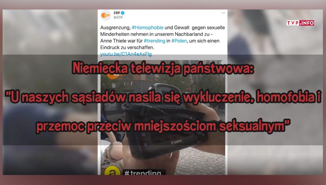 ZDF manipuluje nagraniem szkalując Polskę (fot.TVP Info)
