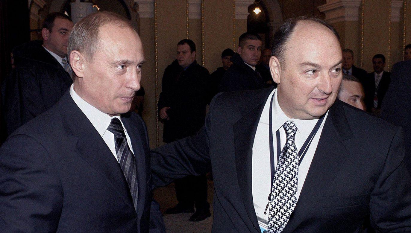 Rosyjski prezydent Władimir Putin i Wiaczesław Mosze Kantor, rosyjski oligarcha żydowskiego pochodzenia (fot. arch. PAP/EPA/PRESIDENTIAL PRESS SERVICE/ITAR-TASS POOL)