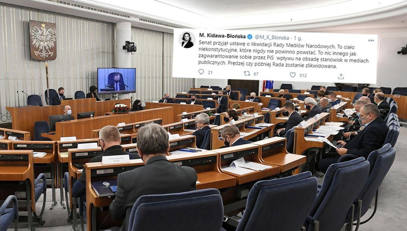 Kidawa-Błońska jest posłem od 5. kadencji i po raz trzeci pełni funkcję marszałka Sejmu (fot.  PAP/Marcin Obara; Twitter/Małgorzata Kidawa-Błońska)