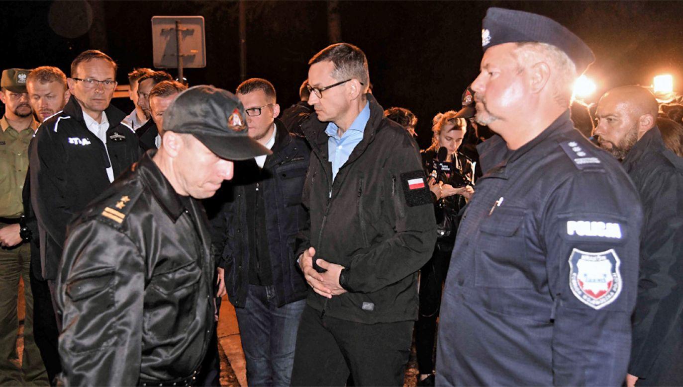 Premier Mateusz Morawiecki wziął udział w posiedzeniu sztabu kryzysowego w Zakopanem (fot. PAP/Jacek Bednarczyk)