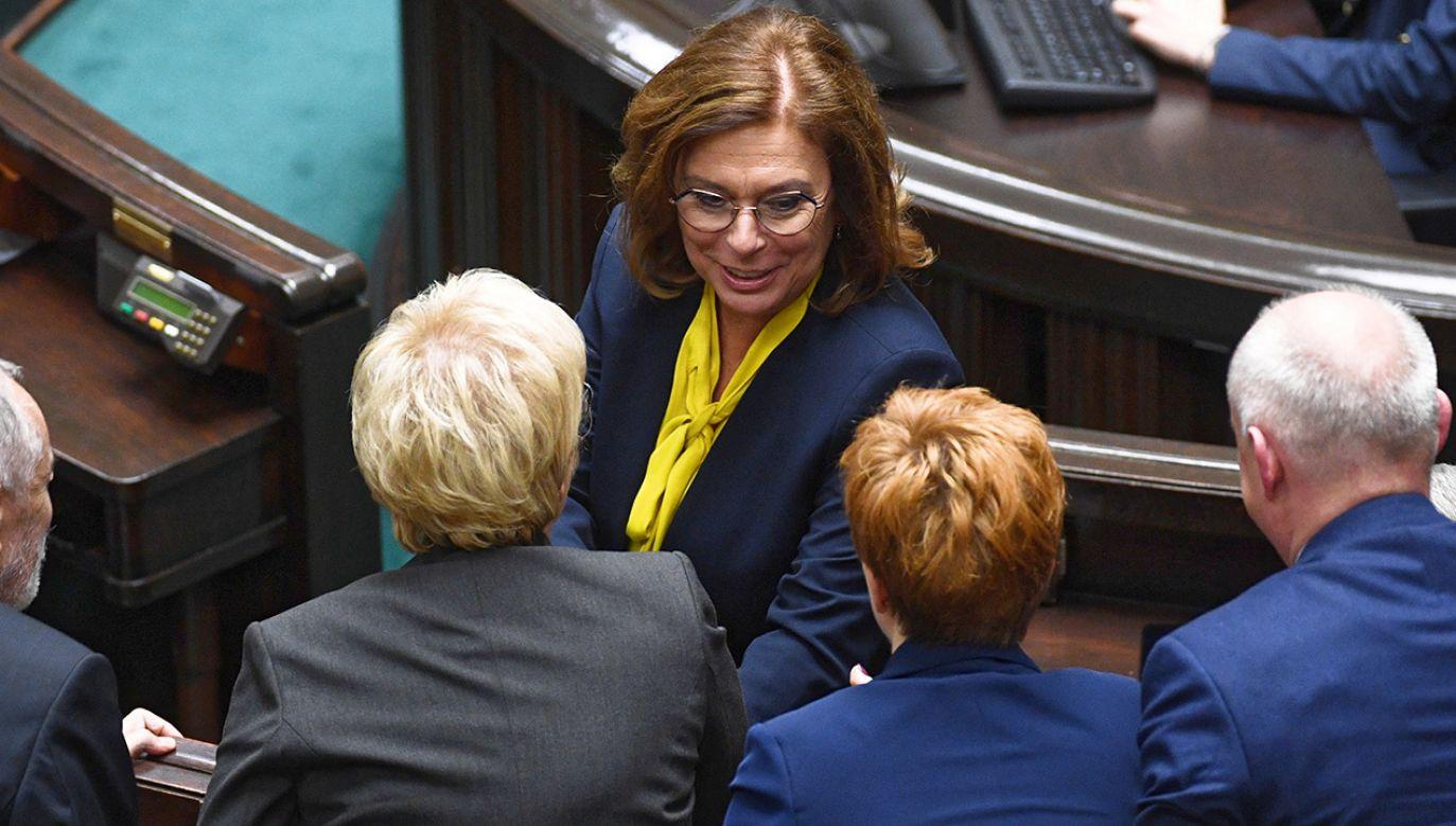 Posłowie Lewicy są zszokowani słowami Małgorzaty Kidawy-Błońskiej (fot. PAP/Radek Pietruszka)