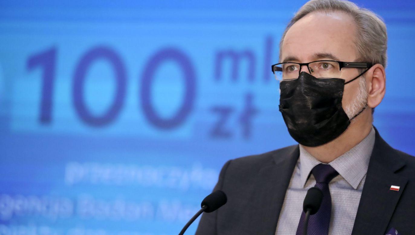 Minister zdrowia Adam Niedzielski (fot. PAP/T.Gzell)