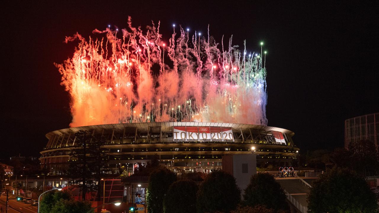 Stadion w Tokio świecił dziś wieloma kolorami (fot. Getty)