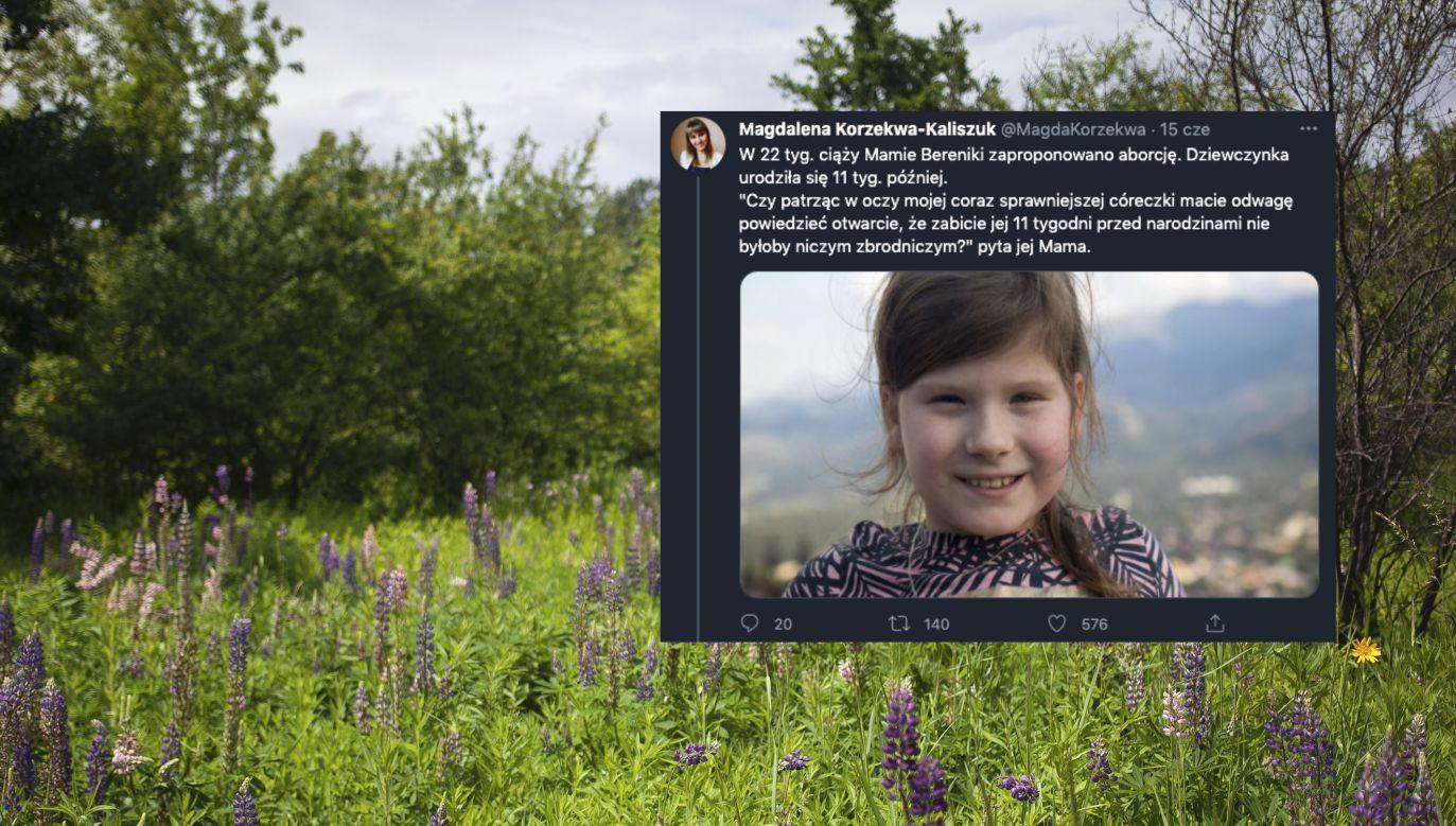 """Ruszyła kampania """"Każde życie jest cudem"""" (fot. Maciej Luczniewski/NurPhoto via Getty Images, Twitter.com/MagdaKorzekwa)"""
