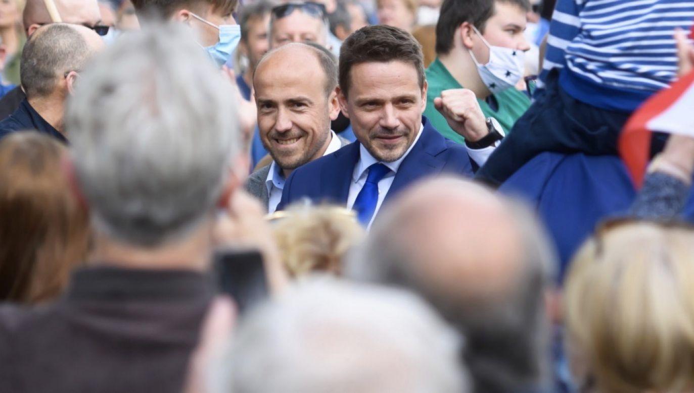 Kandydat Koalicji Obywatelskiej na prezydenta Polski, prezydent Warszawy Rafał Trzaskowski (fot. PAP/Jakub Kaczmarczyk)