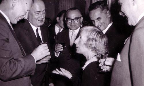 Prof. Dorabialska podczas zjazdu Polskiego Towarzystwa Chemicznego w 1959 roku (fot. Muzeum Marii Skłodowskiej-Curie)