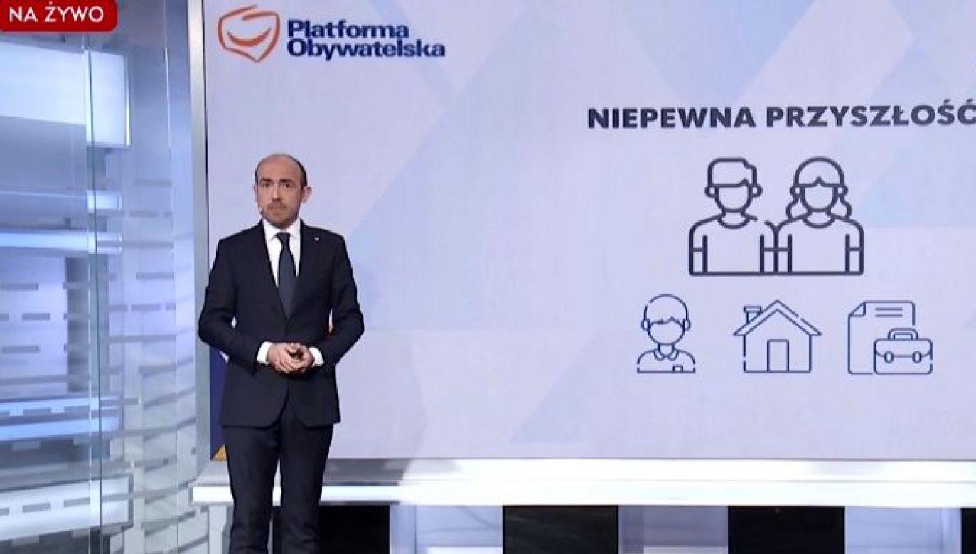 Nowe pomysły PO dla Polski (fot. TVP Info)