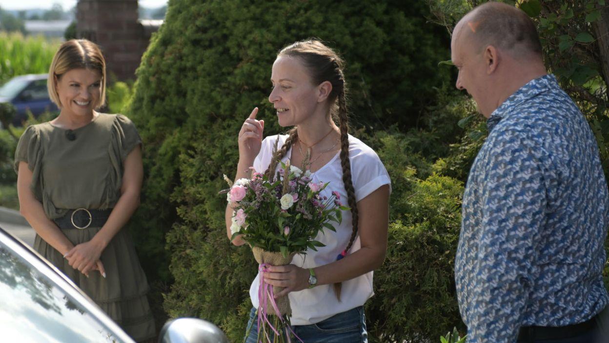 W gospodarstwie pojawiła się Ewa, która nie mogła osobiście przybyć na poprzednie nagrania (fot. TVP)