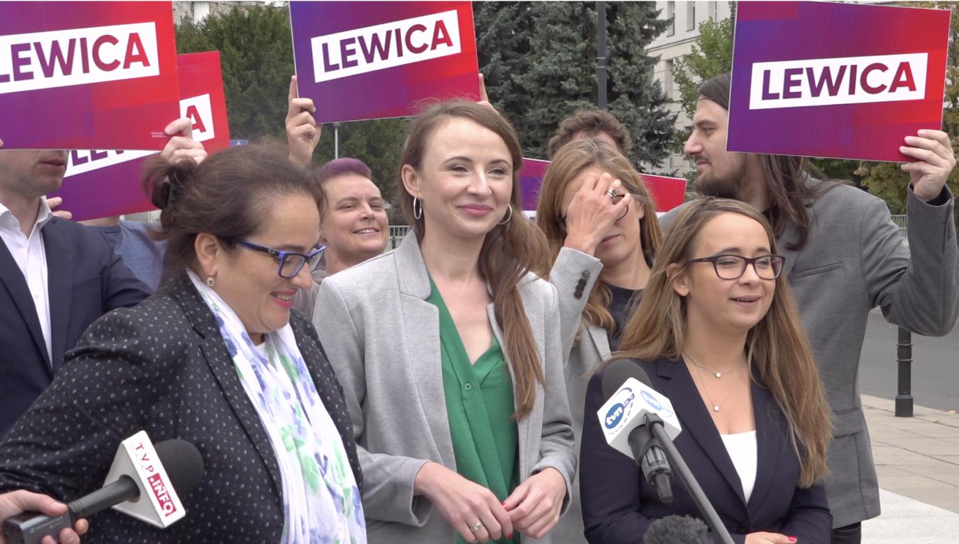 Kandydatki Lewicy do Sejmu obiecywały m.in. parytety w instytucjach publicznych, ale musiały się tłumaczyć z niewielkiej liczby kobiet na pierwszych miejscach list wyborczych swojego komitetu. (fot. portal tvp.info)