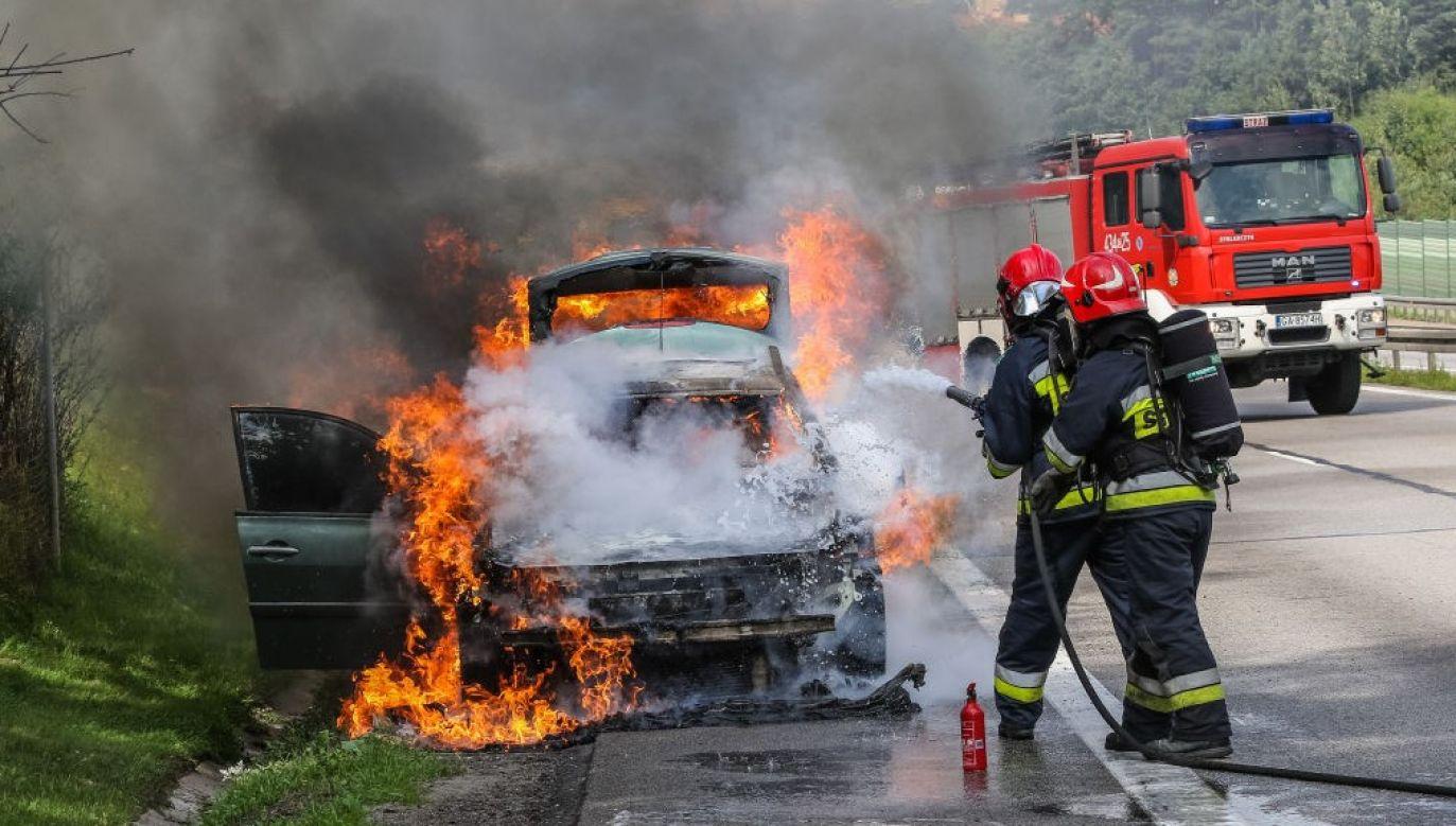 Na czas gaszenia pojazdu jezdnia w kierunku Gdańska będzie zablokowana (fot. Michal Fludra/NurPhoto via Getty Images/ zdjęcie ilustracyjne)