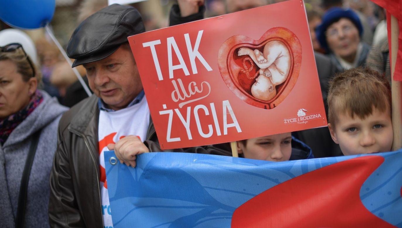 Marsz dla Życia i Rodziny w Warszawie w 2019r. (fot. arch. PAP/Marcin Obara)