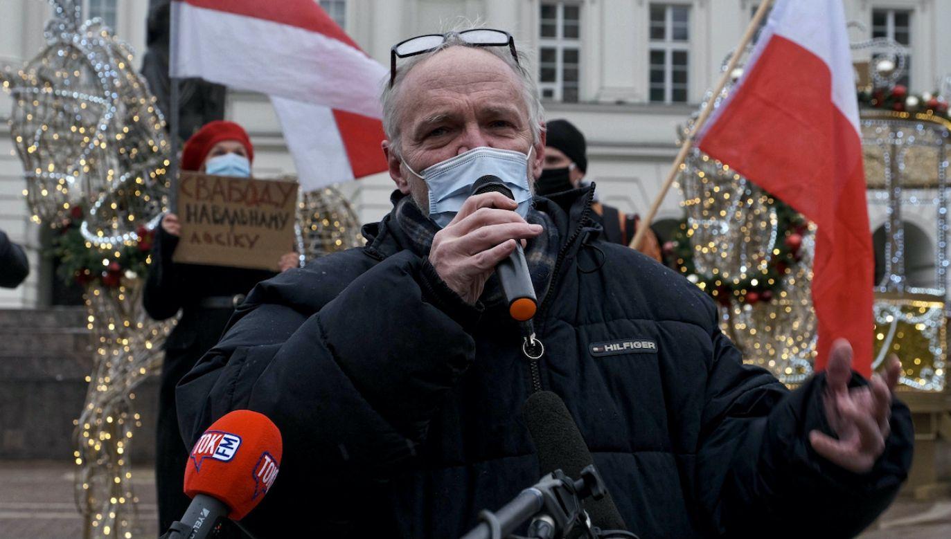 Paweł Kasprzak jest jednym z liderów Obywateli RP (fot. PAP/M.Marek)